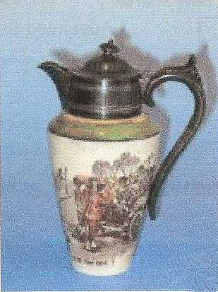 Collectors water pitcher featuring designs: Room For One - Royal Doulton Motoring Seriesware